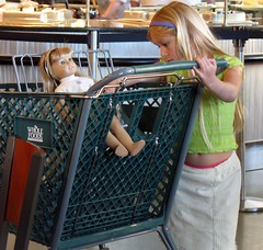Shopping (.michael.newman.) Tags: kid chair doll child market shoppingcart supermarket wholefoods tummy headband