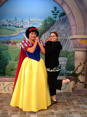 Snow White and Sara (Andy Neitzert) Tags: county charity orange goofy kids hospital children mouse kid walk disneyland disney mickey haunted adventure childrens characters mansion fundraiser choc walkathon calfornia