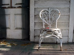 Chair on Porch (Ronnie R) Tags: red chair florida porch keywest wicker