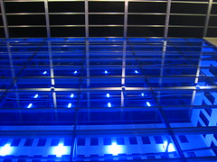 office building rheinlanddamm (TabascoEye) Tags: blue light building night office dortmund