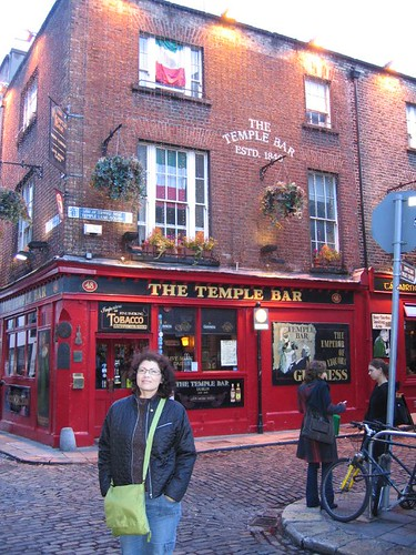 Me in front of Temple Bar in Dublin, Ireland