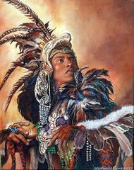 Aztec Dancer (steeelll) Tags: art acrylic aztecdancer