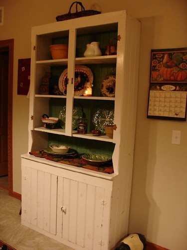 antique country pine cupboard