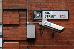 Keeping An Eye On The Kettle (MykReeve) Tags: street camera brick london sign wall wire bricks wires vinestreet teamb cityoflondon target14 lfsh281006