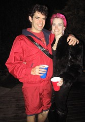 david hasselhoff and his girl, Pink (carolyn_in_oregon) Tags: pink halloween mike oregon portland jess davidhasselhoff