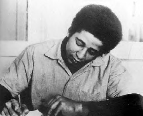 George Jackson With His Pen in Prison by panafnewswire