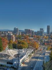 Portland Autumn (fusionpanda) Tags: autumn oregon portland cityscape fallcolors mthood hdr photomatix