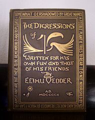 Digressions of Elihu Vedder, 1910 (Valentinian) Tags: gold book antique 1910 oldbook vedder elihuvedder