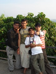we four at dona paula (Ravi Kamdar) Tags: tour goa ravi kamdar