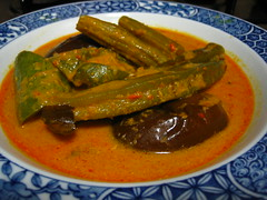 Vegetable Curry With Snake Gourd + Recipe (Food Trails) Tags: vegetables interesting homemade recipes foodtrails homecooked homestyle homecooking curryleaves ladysfingers seasonings comments eggplants serai currypaste brinjals snakegourd driedseafood afavourite freshchilliesgroundingredients drumnsticks