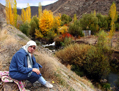 Paradise (My Version) (Hamed Saber) Tags: blue autumn red green fall love nature colors girl yellow geotagged persian paradise iran colorfull persia saber iranian  hamed farsi       somayeh