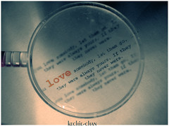 looking for LOVE! (Creativa) Tags: love glass see message looking close note lovely kechiechan