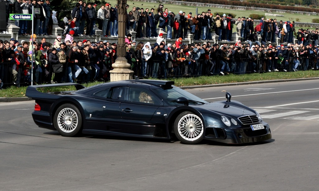 Track Car:Black 1999 Mercedes Benz CLK-GTR AMG