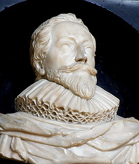 Orlando Gibbons (1583-1625), composer - marble bust (chrisjohnbeckett) Tags: white memorial carving bust marble ruff composer canterburycathedral canterburyuk orlandogibbons nicholasstone chrisbeckett