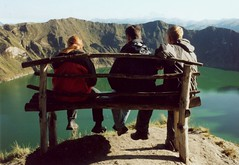 Sitting on a bench (rasmus_boegh) Tags: lake bench ecuador crater andes laguna quilotoa