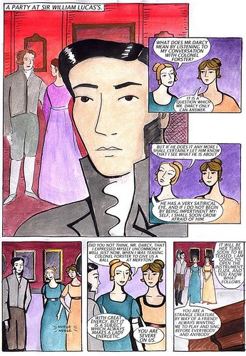 Pride and Prejudice the Comic Book, page 9