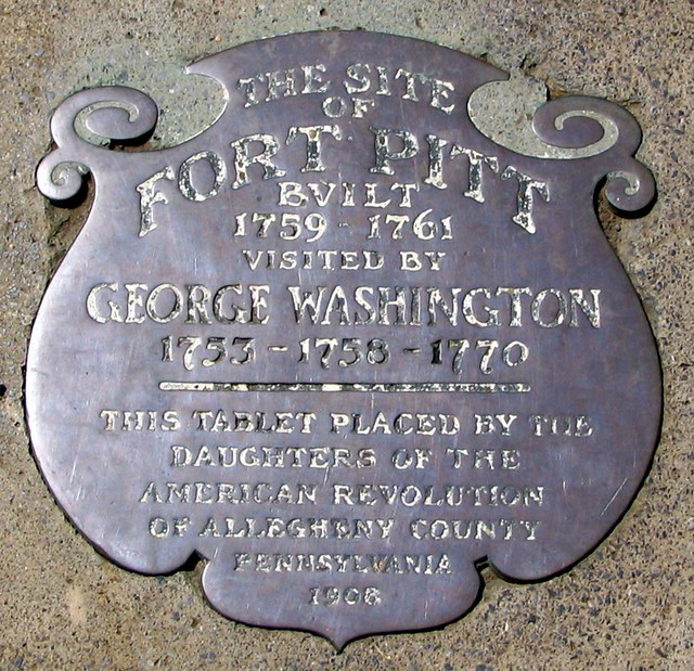 Fort Pitt was visited by George Washington marker