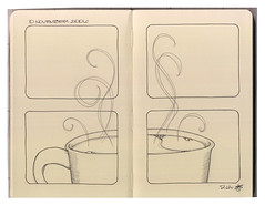 "Process: ""The Essence of Coffee"", pt 2 (renmeleon) Tags: moleskine coffee storyboard ria journaling renmeleon renfolio"