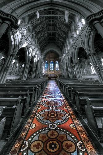 Remarkable it is: the floor at Saint Mary...