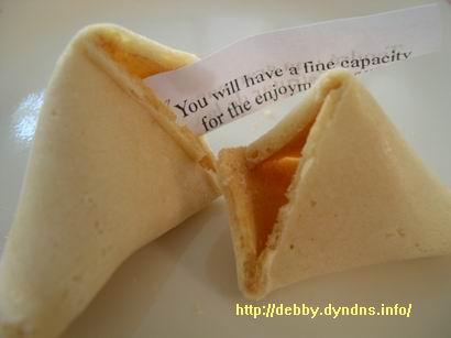 美國的中餐館裡才有的幸運餅(fortune cookie)2