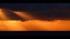Discovery Sunrise (Tim Ennis) Tags: ocean light sunset sea cloud sunrise coast tim marine ray bc conservation beam vancouverisland ennis insidepassage sunbeam campbellriver atmoshpere discoverypass timennis