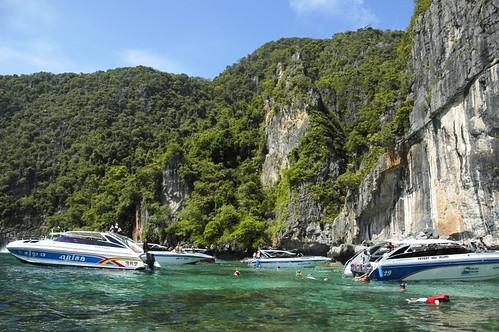 Snorkling stop at Ko Phi Phi Leh