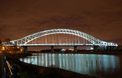 runcorn bridge at night (MDBaxter) Tags: bridge rivermersey runcornbridge