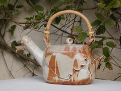 Duck teapot with a bathtub plug (for a lid) (Ant Ware) Tags: art ceramic duck ceramics handmade pottery teapot stoneware cone10 handbuild antware