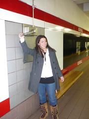 lauren pulls the lever to make the bells ring (alist) Tags: cambridge mit harvard cambridgemass cambridgema 02139 cambridgeport robison harvardyalefootball