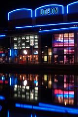 Lincoln Odeon (Nicholas Gray) Tags: uk england reflection night olympus lincolnshire e lincoln e300 300 odeon brayford