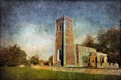 Diddington Church (Mute*) Tags: texture church blended photoshoppery