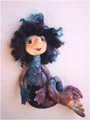 mermaid (gramarye) Tags: blue dolls colours purple fabric artdoll textiles cloth mermaid figurative softsculpture handsculpted patternavailable