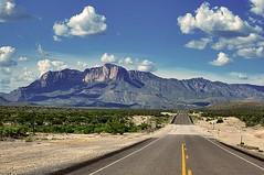 as far as I can see (DanielJames) Tags: road sky mountains clouds vanishingpoint texas desert portfolio westtexas guadalupemountainsnationalpark inexplore