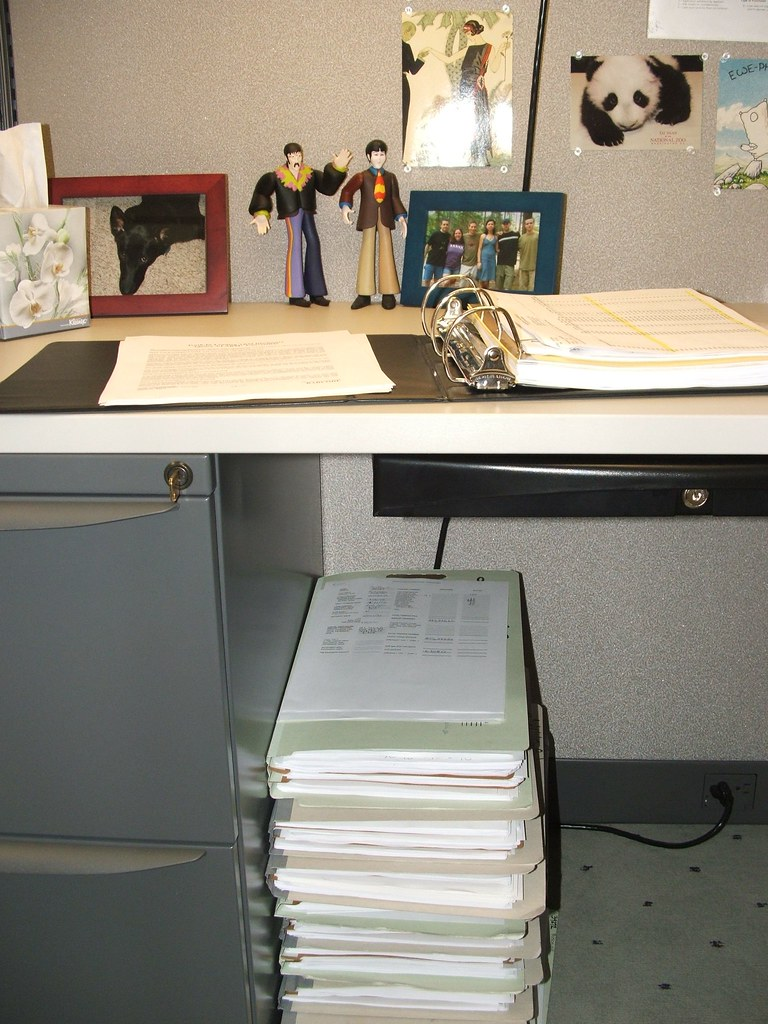 Stack o'loan files and other work