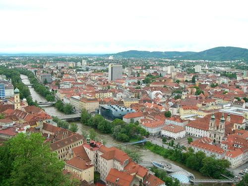 Vista di Graz, in Austria.