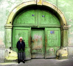 The gate (ttinu) Tags: verde green gate oldwoman baba cluj batrana poarte