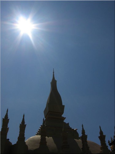 vientiane laos pha tat luang