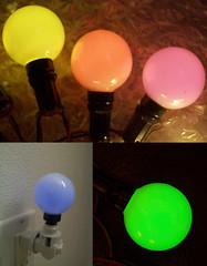 fluorescent Christmas lights (TheDamnMushroom) Tags: christmas lights c7