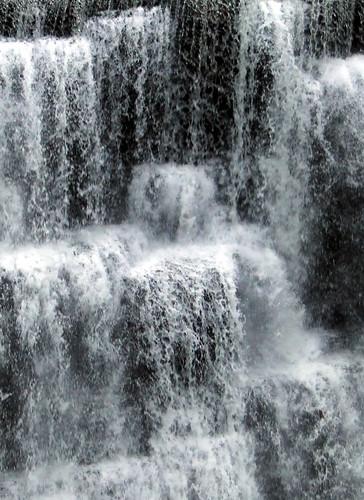 Genesee River falls closeup