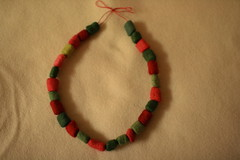 Felt bead necklace (UncommonGrace) Tags: christmas wool necklace felt bead