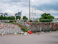 Lovelocks and Garbage (Much Ramblings) Tags: hamburg garbage rubbish padlocks lovelocks