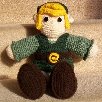 Link From The Legend Of Zelda With Free Pattern Crochet