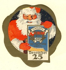 No Hunting (BookMonger) Tags: santa christmas canada coatofarms label canadian ephemera santaclaus nohunting december25