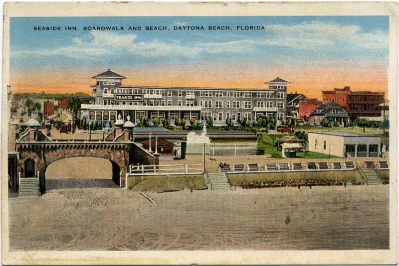 Postcard: Seaside Inn, Daytona Beach, Daytona, Florida