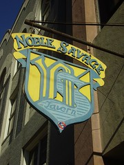 Noble Savage sign Downtown Shreveport