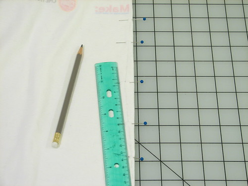 Back seam: fold on pin line, mark, and pin