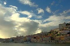 Ribeira Porto (trazmumbalde) Tags: city sky portugal clouds river europe cityscape porto douro hdr ribeira 3xp galeriadosfavoritos
