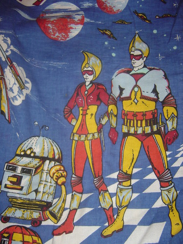 vintage space fabric