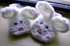 these bunnies don't know what you're talking about (tizzie) Tags: project embroidery manhattan crochet gift doubtful slippers bunnyslippers imissyou shiftyeyes goodkarma bemyfriend thehappyhooker theincorporationplan fuzzybunnyslippers ravelry