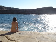 Skinny dipping on Ibiza (dianajanicki) Tags: beach ibiza skinnydipping